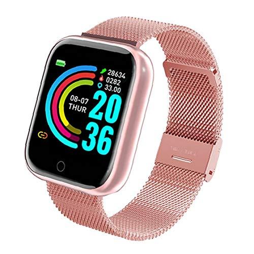 Tuimiyisou Presión Actividad TrackerSmart Impermeable Reloj USB Banda de Reloj del perseguidor de Y68 Inteligente Pulsera Reloj del Ritmo cardíaco de Sangre rastreador de Ejercicios Rosa