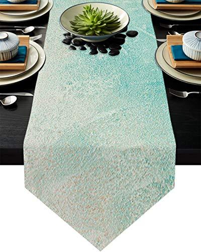 COMMER Camino de mesa, bufandas simples para aparador, decoración de mesa para fiesta de boda/ceremonia de graduación/banquete (33 x 228 cm)