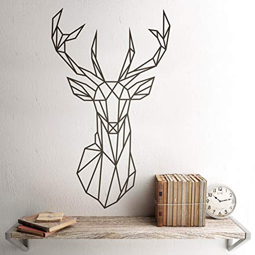 TYLOLMZ Etiqueta de la pared Origami Geometry Polygon Tatuajes de pared Tatuajes de pared