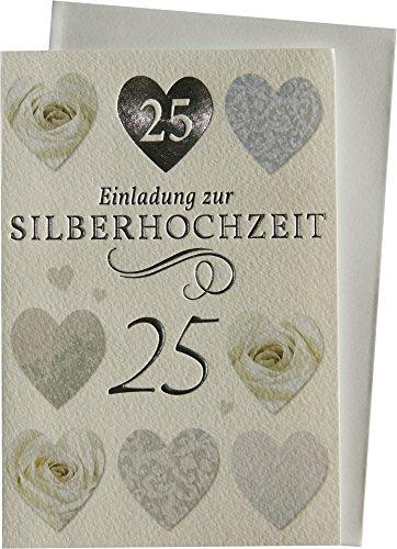 Einladungskarten Klappkarten zur Silberhochzeit mit Innentext 71-H2703