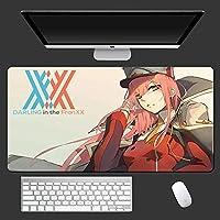 鼠标垫 Anime DARLING in the FRANXX ダーリン・イン・ザ・フランキス Mouse Pad XXL、XL橡胶锁边边笔记本桌垫 900x400mm-B_700X300X3MM