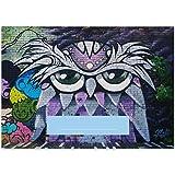 1 Graffiti DIN A3 Malblock Motiv'coole Eule' • Zeichenblock Skizzen-Block 25 Blatt weiß, kopfverleimt, holzfreies Qualitäts-Papier 100g/m²- für Schule, Basteln, Hobby
