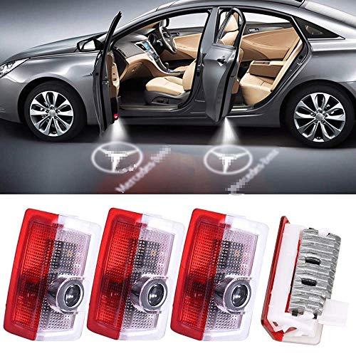 AUT-Otür Logo Licht, 4Pcs Led Au-to Projektor Logo - Ghost Shadow Licht Türbeleuchtung Willkommen Lampe Fit Für Mercedes-Benz