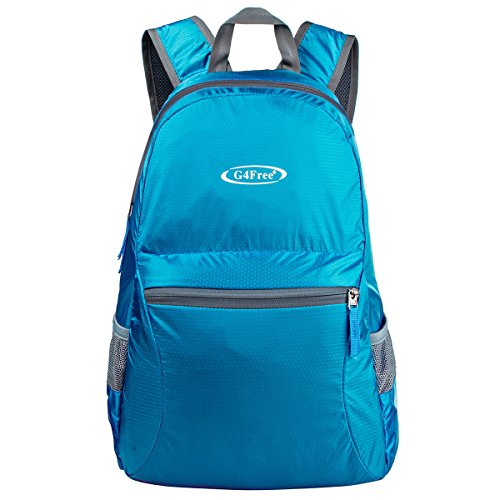 Ultra Lightweight Packable Backpack Travel Hiking Daypack Foldable Small (Blue)