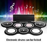 W759 Portable Roll Up Drum Drum elettronico digitale USB Strumento musicale da tavolo Hi-h...