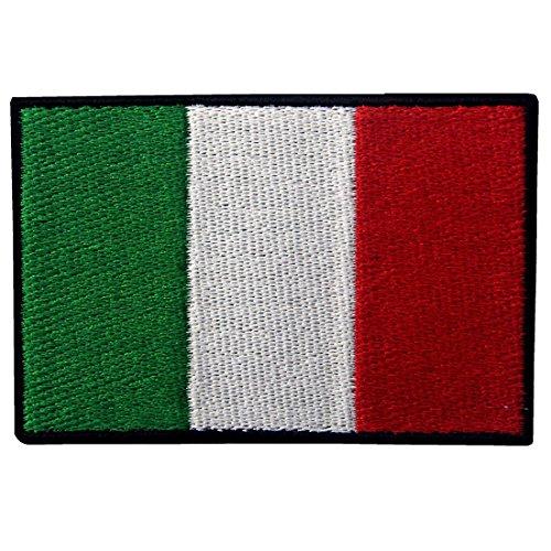 ZEGIN Italien Flagge Gesticktes Applique Eisen auf Nähen Flecken Abzeichen