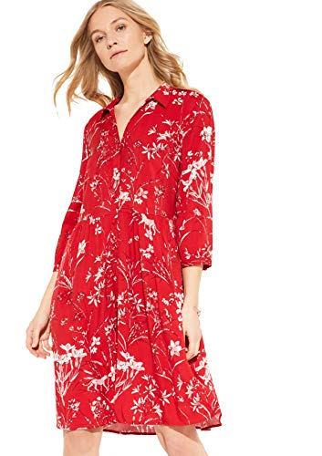COMMA 81.004.82.5486 Kleid, Damen, Rot 40 EU