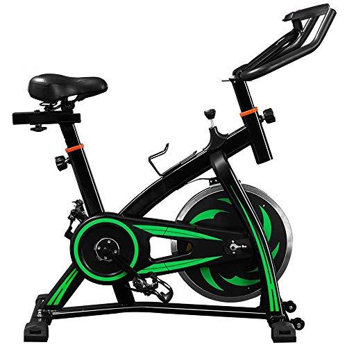 Ejercicio paso a paso, bicicleta estática de ciclismo para interiores, bicicleta de entrenamiento, cardio, cardio y spin con consola LCD, volante de 10 KG, resistencia de 8 niveles, máquinas de ejerc