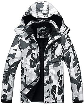 Men s Waterproof Ski Jacket Warm Winter Snow Coat Hooded Raincoat