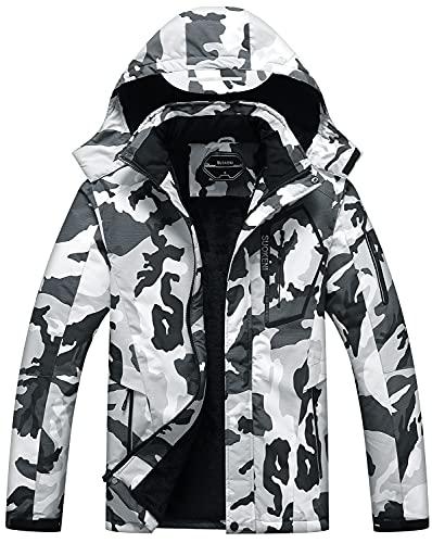 Men's Waterproof Ski Jacket Warm Winter Snow Coat...