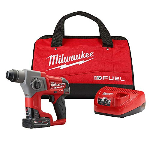 MILWAUKEE M12 FUEL 2416-21XC 12-Volt Cordless Lithium-Ion 4.0Ah 5/8 in. Brushless SDS-Plus Rotary Hammer Kit