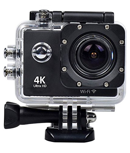 Anchor Pro Action Camera 4K Ultra HD -- Compatible with Wifi -- Waterproof -- 1080p -- Sport Action Camera and Accessories Kit -- 2.0 LCD Screen -- 170 Degree Wide Lens