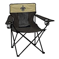 Logo Brands NFL New Orleans Saints Elite Chair Elite Chair, Charcoal, One Size
