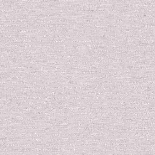 rasch Tapete 448528 aus der Kollektion Florentine II – Einfarbige Vliestapete in zartem Rosa – 10,05m x 53cm (L x B)