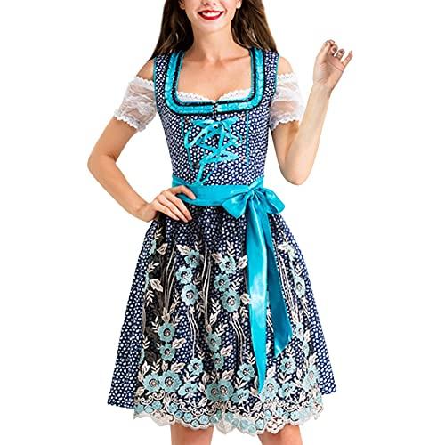 K-Park PersonukXD - Vestido para mujer, diseo de dirndl alemn, estilo tradicional bvaro, disfraz de Oktoberfest para Halloween, carnaval diplomtico
