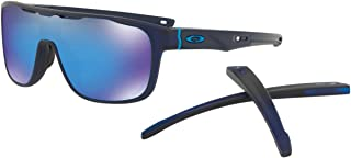 Oakley Erkek Güneş Gözlükleri 0OO CROSSRANGE SHIELD 938705 31, MATTE TRANSLUCENT BLUEE\PRIZMSAPPHIRE