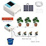 2Krmstr Automatic Irrigation Kit, 2 Pump Solar/USB Intelligent Garden Automatic Watering Device, Plant Water Pump Timer Tool, Precise Watering for Garden Patio