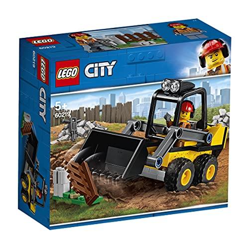 LEGO 60219 City Frontlader, Baumaschinen-Set mit Straßenarbeiter Minifigur