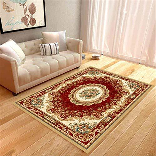 GUO-YANGH Teppich, BodenmatteHome Dekor Schlafzimmer Teppich, kommerzielle Moderne Bodenmatte-Red_80 x 140cm