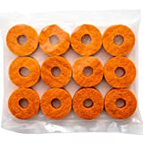 Stage Rocker Orange Wool Cymbal Felts, 12pcs - pack, SRFTOG-12
