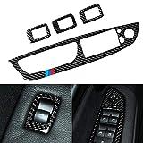 Cubierta del Panel de los Botones del Volante de la Fibra de Carbono para la Etiqueta engomada de la Palanca de la Palanca de Cambio automático del automóvil de BMW para BMW X5 E70 X6 E71 Interior