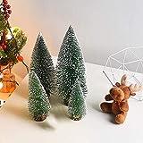 Bogoro 4 Mini Weihnachtsbaum Künstlicher, Mini Weihnachtsbäume Schneetanne, Mini Tannenbaum Christbaum mit Ständer Weihnachtsdeko Weihnachten Tischdeko Winterdeko Decoration - 6