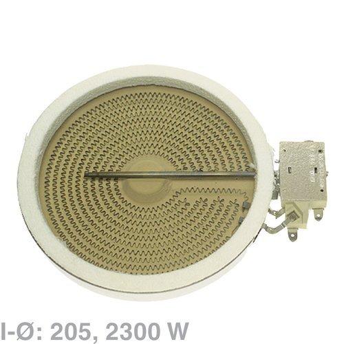 AEG Electrolux Hilight-radiator, winkelwagen-straalradiator Ø 205 mm zoals EGO 10.5111.004 voor glaskeramische kookplaten - Nr.: 3740637214