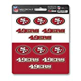FANMATS ProMark NFL San Francisco 49ers DecalDecal Set Mini 12 Pack, Team Colors, One Size