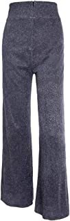 WSPLYSPJY Women's Sequin Trousers High Waisted Casual Loose Skinny Glitter Overalls Legging Maxi Pants