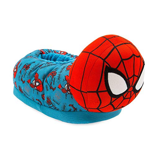 Marvel Spider-Man Slippers for Kids,Red,9/10 YTH
