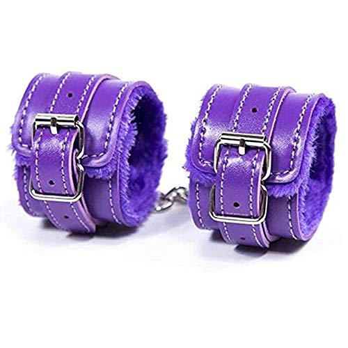 ENGOOL Fluffy Wrist Leather Handcuffs Bracelet Hand Cuffs Role Play Yoga Gyms Party Cosplay