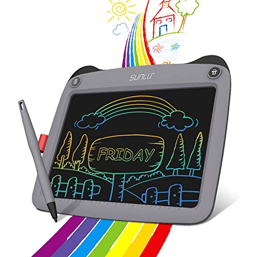 LCD Writing Tablet 9 inch Colorful Screen, Best Gift Electronic Drawing and Writing Board for Kids & Adults, Handwriting Paper Doodle Pad for Office, School, Home [Grey]