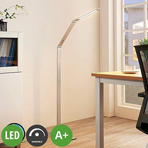 Lampenwelt LED Stehlampe dimmbar, einstellbare Lichtfarbe| Standleuchte Metall | Leselampe-Stehlampe für Wohnzimmer, Esszimmer, Arbeitszimmer, Büro (A+, inkl. Leuchtmittel)
