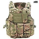 Caccia Tattico Gilet Regolabile Esercito Militare Assault Combat Vest, Airsoft Paintball Assault...