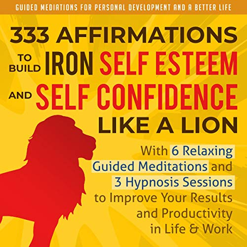 Couverture de 333 Affirmations to Build Iron Self Esteem and Self Confidence Like a Lion