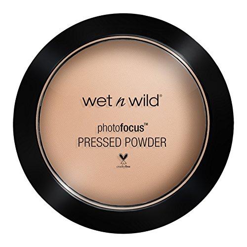 Wet N Wild – Photofocus™ Pressed Powder – Puder mit lichtreflektierenden Pigmenten, Neutral Beige, 1 Stk. 40g