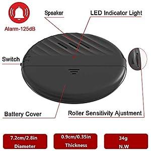 Window Alarm 125dB Loud Ultra-Slim Anti-Theft Alarm for Door and Window Glass Break Vibration Sensor Alert with Adjustable Sensitivity (5 PCS)