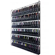 Pana Black 6 Tier Large Wall Mounted Metal Rack - Fit up to 100 Nail Polish Bottles - For Home Salon Business Spa etc.