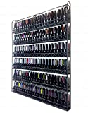 Pana Black 6 Tier Large Wall Mounted Metal Rack - Fit up to 100 Nail Polish...