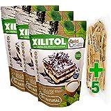 DulciLight Xilitol 3 kg 100% Natural + 5 sobres de EDULCORANTE MORENO. Edulcorante 0 Calorias. Sustituto del Azucar Ideal para cocinar y hacer postres