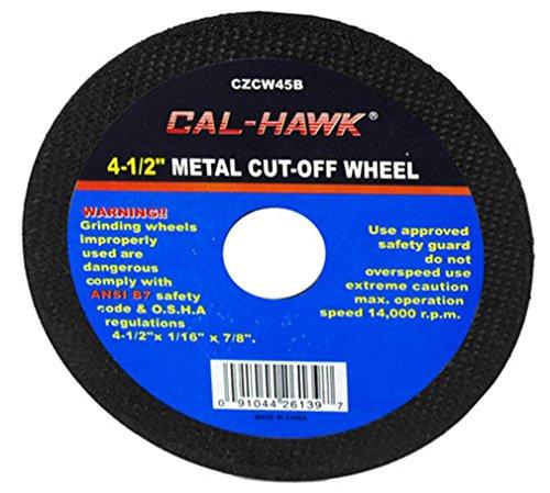 """Cal Hawk Tools CZCW45B Metal Cut-Off Wheel (50 Pack), 4-1/2"""""""