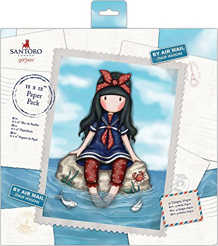 "SANTORO Docrafts Single-Sided Paper Pack 12""X12"" 32/Pkg Gorjuss Postal, 32 Designs/1Ea"