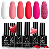 Best Gel Polishes - Beetles Valentine's Day Glitter Baby Pink Red Gel Review
