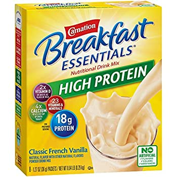 Carnation Breakfast Essentials High Protein Powder Drink Mix Classic French Vanilla 10.24 Ounce  Pack of 6   Packaging May Vary