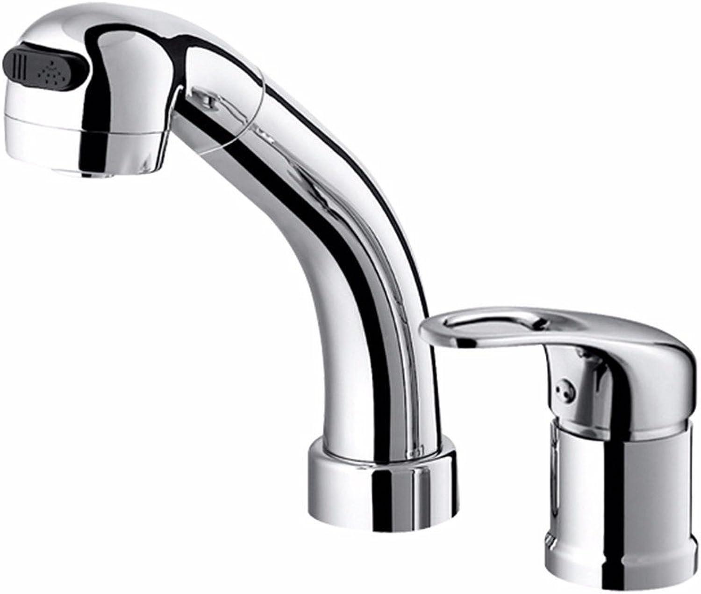 Lvsede Bad Wasserhahn Design Küchenarmatur Niederdruck Bad Bad Einhand-Doppelloch-Zugwaschbecken Warm Und Kalt L5132