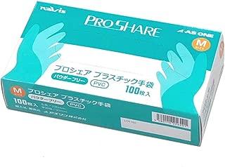 ナビス プロシェア 使い捨て プラスチック手袋 パウダー無 M 1箱(100枚入) / 8-9569-02
