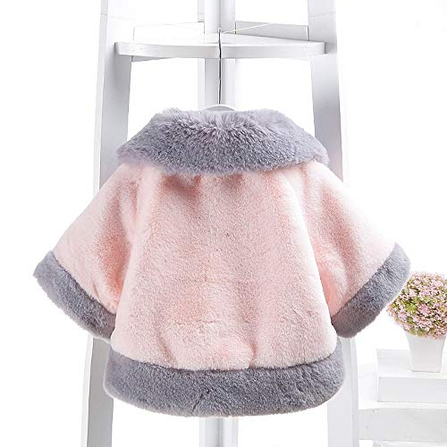 Kobay Baby GirlsCoat, Baby Infant Girls Autumn Winter Velvet Cloak Jacket Thick Warm Clothes Tops Suit for 0-2 Years Baby Pink