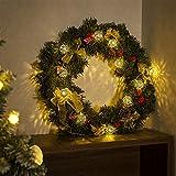 GIGALUMI LED Kugel Lichterkette 20 Silber Metall Kugel 2,5m Lange Warmweiß Batteriebetrieben Innen Beleuchtung Dekoration für Party, Weihnachten, Halloween, Zimmer usw. - 6