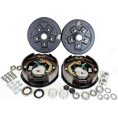 Southwest Wheel 3,500 lbs. Trailer Axle Electric Brake Kit 5-4.5' Bolt Circle