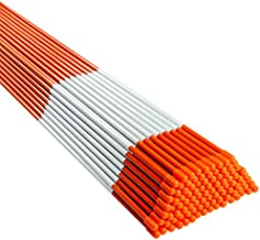 BTSD-home 100 Pack Fiberglass Driveway Markers 48 Inch Snow Stakes with Reflective Tape